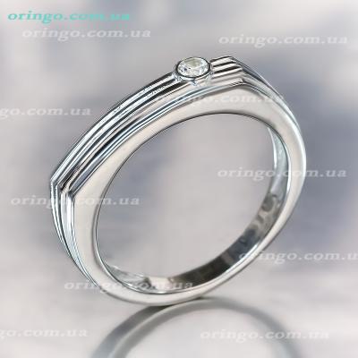 Перстень из , Без покрытия, Без цвета,  (Бесцветный), , стиль - Классика, артикул - К 405