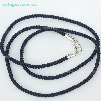 Шнурок из , Без покрытия,  (Чёрный), Чёрный, , стиль - Классика, артикул - Ш 023