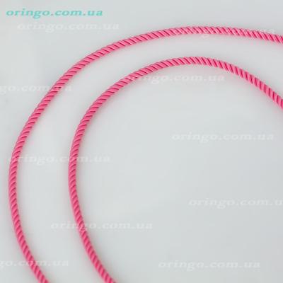 Шнурок из , Без покрытия,  (Коралловый розовый), Розовый, , стиль - Классика, артикул - Ш 025