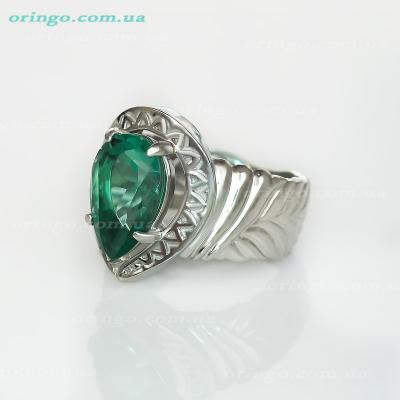 Кольцо из , Родирование,  (Кварц зеленый), Зелёный, , стиль - Серебряная мечта, артикул - К 610 qw_Z р