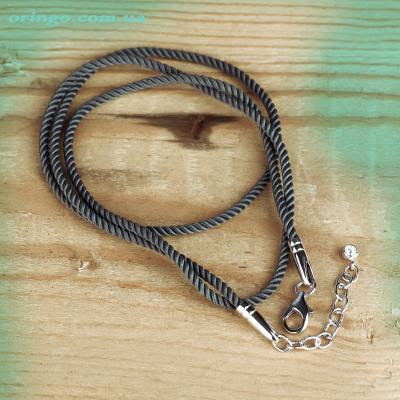 Шнурок из , Родирование,  (Серый), Серый, , стиль - Классика, артикул - Ш 028 р ВН