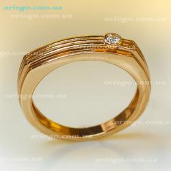Перстень из , Позолота, Без цвета,  (Бесцветный), , стиль - Классика, артикул - К 405 п