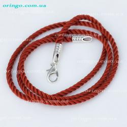 Шнурок из , Без покрытия,  (Гранатовый), Красный, , стиль - , артикул - Ш 023_4