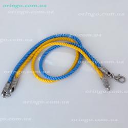 Шнурок из , Без покрытия, Ассорти,  (Желтый+Синий), , стиль - , артикул - Ш 024