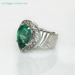 Кольцо из , Родирование,  (Зелёный кварц), Зелёный, , стиль - Серебряная мечта, артикул - К 610 qw_Z р