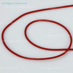 Шнурок из , Без покрытия,  (Гранатовый), Красный, , стиль - Классика, артикул - Ш 025_4