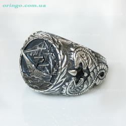 Перстень из , Оксидирование,  (Чёрный), Чёрный, , стиль - Авангард, артикул - К 606 о