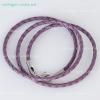 Плетеный кожаный шнурок (3 мм)